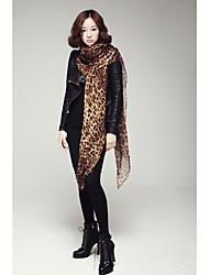 leopardo patrón bufanda de las mujeres