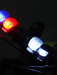2 silicona Frog rueda de bicicleta 3 Interruptor de luz LED flash