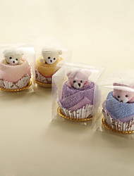 Little Bear Cake Towel - Set of 6 (More Colors)