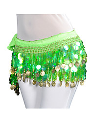 Belly Dance Belt Women's Training Chiffon Coins