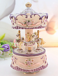 Modern Style Merry-go-round Music Box-Cannon in D
