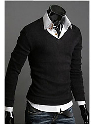 FSNZ Herren Schwarz Fit V Neck Sweater