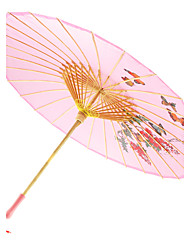 Floral Mercery Parasol With Wooden Handle(Pattern Random Shipment)