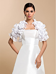 Wedding  Wraps Coats/Jackets Short Sleeve Chiffon White Wedding / Party/Evening / Casual Petal Open Front