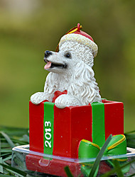 Cute Poodle Decorative Ornament Christmas Gift for Pet Lovers