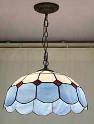 Beads Decoration Pendant, 2 Light, Tiffany Resin Glass Painting Processing