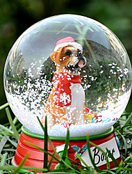 Lovely Boxer Decorative Crystal Ball Ornament Christmas Gift for Pet Lovers