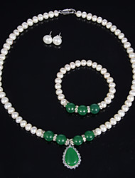 Women's Pearl Jewelry Set