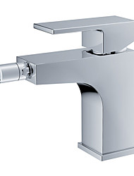 Contemporary Centerset Single Handle One Hole in Chrome Bidet Faucet