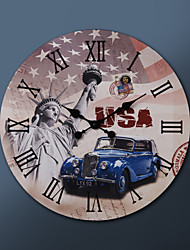 "23""H US Painting Metal Wall Clock"