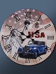 """23 """"H США картина Металлические настенные часы"""