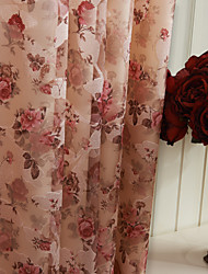 (Two Panels) Country Bloom Peony Energy Saving Curtain