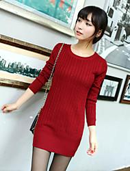 Women's Sweaters , Cotton/Polyester/Viscose Casual YIYI