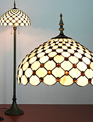 Beads Decoration Floor Lamp, 2 Light, Tiffany Resin Glass Painting Process