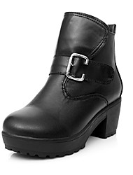 Women's Chunky Heel Motorcycle Ankle Boots