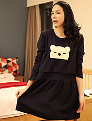 Maternity Bear Print Mini Dress