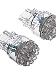 2pcs T25 3156 24-LED de 80 100LM White Light Bulb para carro (12V) LED