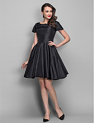 TS Couture® Cocktail Party Dress - Black Plus Sizes / Petite A-line / Princess Bateau Knee-length Taffeta