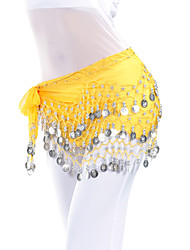Belly Dance Belt Women's Training Chiffon Beading Coins Hip Scarf