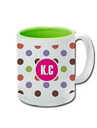 Personalized Ceramic Mug - Colorful Dot