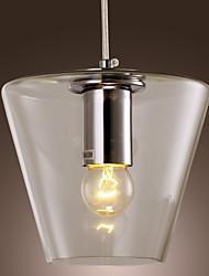 40W luce del pendente contemporaneo con paralume in vetro ad alta trasparenza