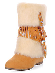 Suede Flat Heel Snow Boots Mid-calf Boots(More Colors)