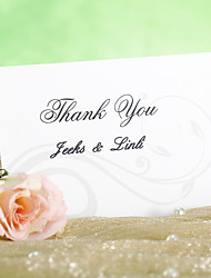 Thank You Card - Cirrus Pattern (Set of 12)