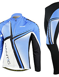 SANTIC® Men's Long Sleeve Bike Breathable / Thermal / Warm / Windproof / Fleece Lining / Wearable Clothing Sets/SuitsSpandex / 100%