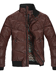 Men's Long Sleeve Casual Jacket,Cotton Blend Solid Black