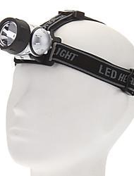3-Mode LED White Light Headlamp (3xAAA, Silver+Black)