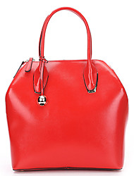 SCIDACA Fashion Gorgeous Cow Leather Red Tote