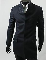 Stand Collar Suit marine de Blue Coat de Fannuo hommes