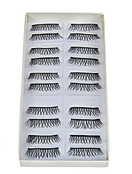 10 paia spessi lunghi Natural False Eyelashes
