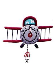 "9 ""H Cartoon avion Polyrésine Horloge murale"