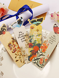 Paper Butterfly Bookmarks - Set of 20 Pieces (Random Color)