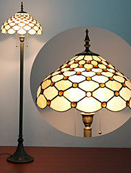 Check Pattern Floor Lamp, 2 Light, Tiffany Resin Glass Painting Process
