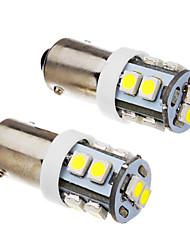 BA9S 1w 10x3528smd 70-90LM 6000k kühlen weißes Licht LED-Lampe (12 V) 2 Stück