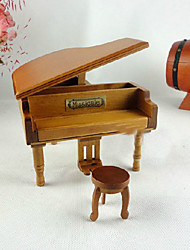 Brown bois Piano Cannon In D Music Box