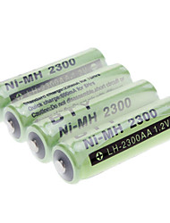 BTY AA 2300mAh Ni-MH Rechargeable Battery Green (4pcs)
