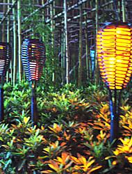 1PCS Super Bright LED jaune étanche Lampe solaire de jardin motorisé