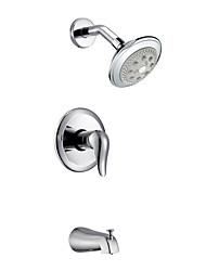 Contemporary Três Buracos único punho acabamento cromado torneira do chuveiro