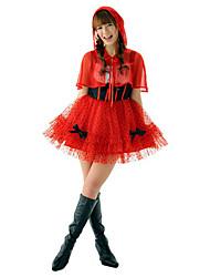 Rosso Cappuccetto Rosso principessa vestito di YYJ donne