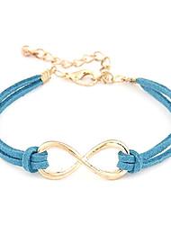 z&X® (1 pc) de la chaîne de la mode en cuir multicolore de 25cm femmes& bracelet à maillons