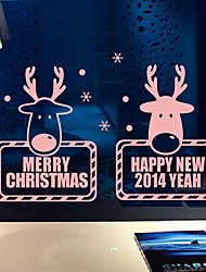 Stickers muraux salutations de vacances de Noël rennes de