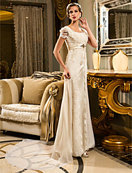 Lan Ting A-line/Princess Plus Sizes Wedding Dress - Ivory Court Train Sweetheart Lace/Satin