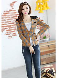 Women's Coats & Jackets , Cotton/Lace Casual LIANDIER