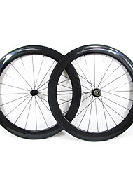 Farsports-700c Road 60mm Full Carbon Clincher Road Bicycle Wheels