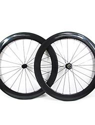 Farsports-700c stradali 60 millimetri Full Carbon strada della graffatrice delle rotelle di bicicletta