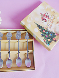 Christmas Theme Spoon - Set of 4 Pieces