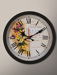 "12 ""H Chinese Rose Schilderij Wall Clock"